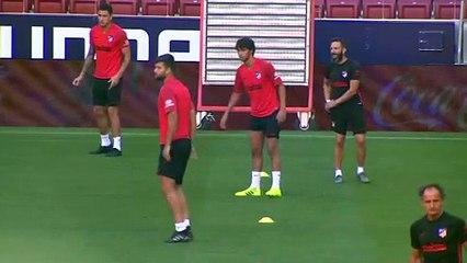 El Atlético de Madrid prepara su partido del domingo contra el Getafe