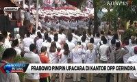 Prabowo Pimpin Upacara di Kantor DPP Gerindra