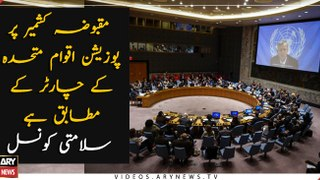 Position on Kashmir Issue is aligned to UN Charter, UNSC