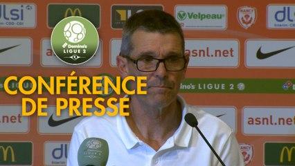 Conférence de presse AS Nancy Lorraine - Le Mans FC (2-1) : Jean-Louis GARCIA (ASNL) - Richard DEZIRE (LEMANS) - 2019/2020