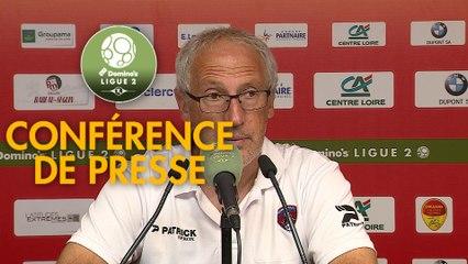 Conférence de presse US Orléans - Clermont Foot (0-1) : Didier OLLE-NICOLLE (USO) - Pascal GASTIEN (CF63) - 2019/2020