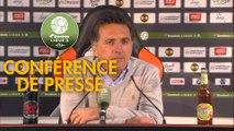 Conférence de presse FC Lorient - FC Sochaux-Montbéliard (1-0) : Christophe PELISSIER (FCL) - Omar DAF (FCSM) - 2019/2020