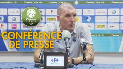 Conférence de presse Grenoble Foot 38 - ESTAC Troyes (1-1) : Philippe  HINSCHBERGER (GF38) - Laurent BATLLES (ESTAC) - 2019/2020