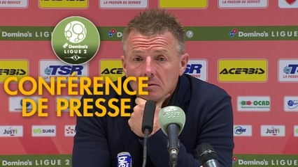 Conférence de presse Valenciennes FC - Rodez Aveyron Football (1-0) : Olivier GUEGAN (VAFC) - Laurent PEYRELADE (RAF) - 2019/2020