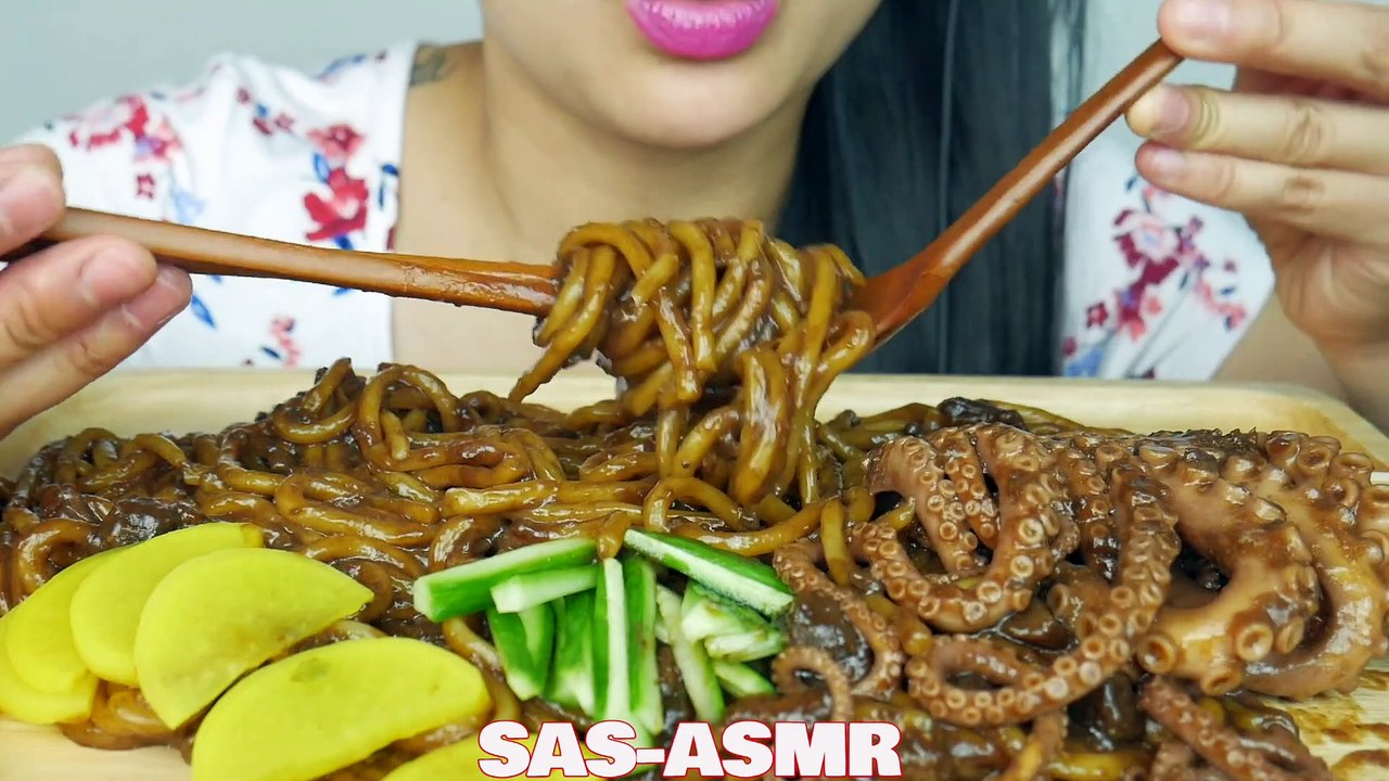 Asmr Blackbean Noodles Octopus Eating Sounds No Talking Sas Asmr Video Dailymotion Please dont forget to wear headphones for more enjoyable experience. asmr blackbean noodles octopus eating sounds no talking sas asmr