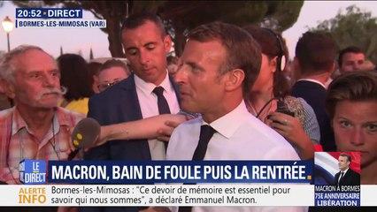 """""""L'héroïsme est encore là dans la société"""": dans le Var, Emmanuel Macron s'accorde un bain de foule"""