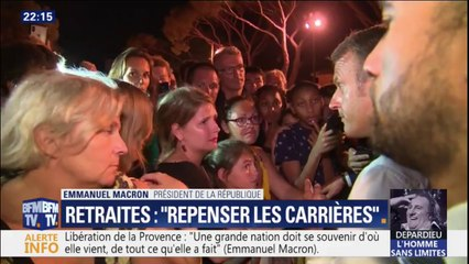 """""""Il faut repenser les carrières"""": dans le Var, Macron explique sa réforme des retraites"""