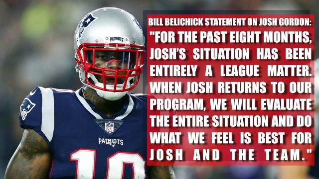 Bill Belichick releases statement on Josh Gordon