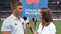 L'interview de Louis Carbonel à la mi-temps de France / Écosse