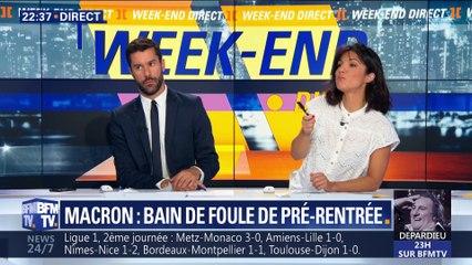 Emmanuel Macron célèbre la Libération de Bormes-les-Mimomas et s'offre un bain de foule