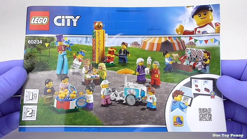LEGO City People Pack Fun Fair - Playset 60234 Toy Unboxing & Speed Build