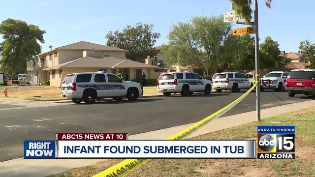 Nine-month-old boy found submerged in tub