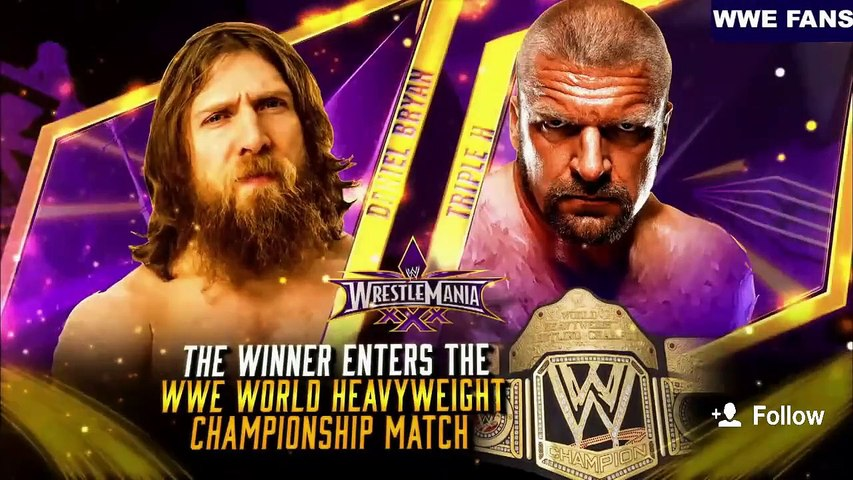 Triple H vs Daniel Bryan Wrestlemania 30 Highlights HD