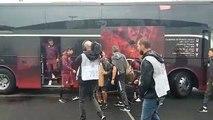Arrivée des joueurs messins au stade
