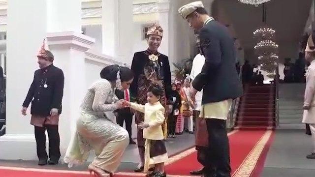 Jokowi Ajak Jan Ethes saat Sambut AHY, Annisa Pohan: Pah, Lucu Banget