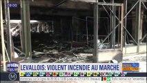 """Le marché de Levallois-Perret détruit par un incendie """"extrêmement virulent"""", pas de blessé"""