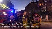 Incendie à Rixheim