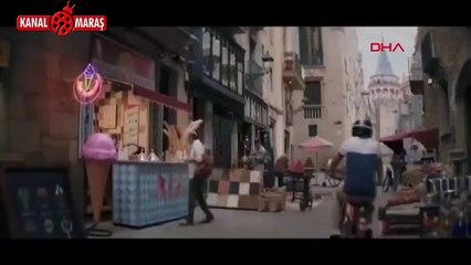 Neymar reklam filminde 'Maraşlı dondurmacı' kılığına girdi .