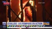 Incendie du marché de Levallois-Perret : les impressionnantes images de l'intervention des pompiers