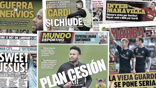 La tentative de la dernière chance du Barça pour Neymar, le Napoli prépare une offre pour Mauro Icardi
