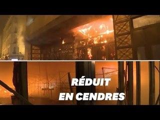 Les images de l'incendie qui a ravagé le marché de Levallois-Perret