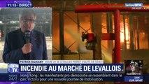 180 pompiers ont été mobilisés toute la nuit pour éteindre l'incendie du marché de Levallois-Perret