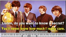 Do You Want To Know A Secret Chords by The Beatles - Free karaoke songs online with lyrics on the screen and piano.