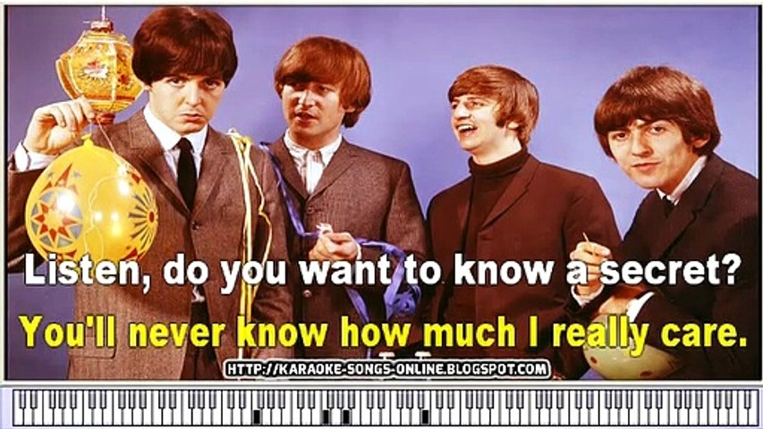 Do You Want To Know A Secret Chords by The Beatles - Free karaoke songs  online with lyrics on the screen and piano