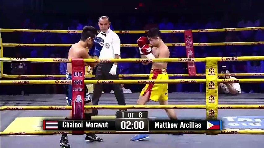 Chainoi Worawut vs Matthew ArcillasFull Fight HD