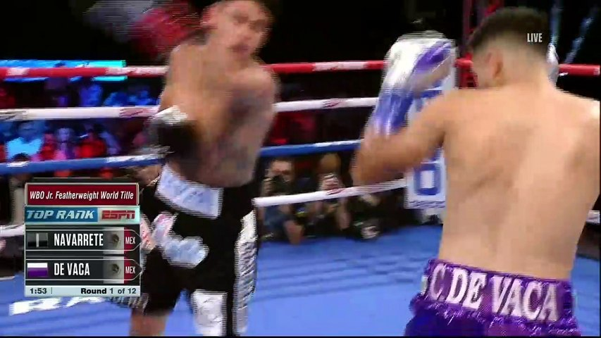 Emanuel Navarrete vs Francisco De Vaca Full Fight HD