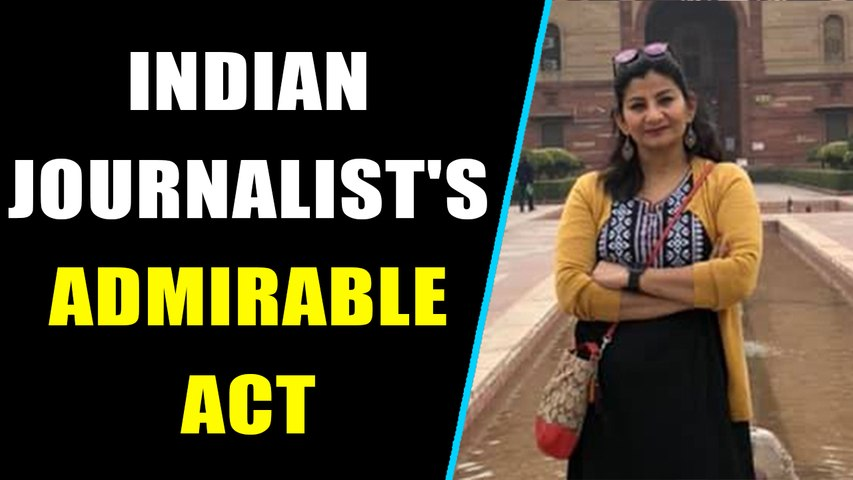 Indian journalist Poonam Joshi snatches torn tricolour from Pak protesters, Video goes viral