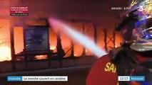 Hauts-de-Seine : un incendie détruit entièrement le marché couvert à Levallois-Perret