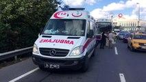 100 Karayolu Çağlayan mevkiinde seyir halindeki bir halk otobüsü önündeki bir kamyona çarptı.