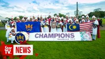 Malaysia's Sri Dasmesh Sikh pipe band takes home champ title at world championship