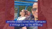 Jennifer Lopez Gifts A Vintage Car