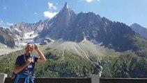 Luc Moreau expliqu le réchauffement climatique  là où il se voit, à Chamonix
