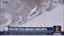 Orages: il grêle dans le Rhône