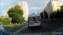 Un patient qui ne voulait pas aller à l'hôpital s'échappe d'une ambulance !