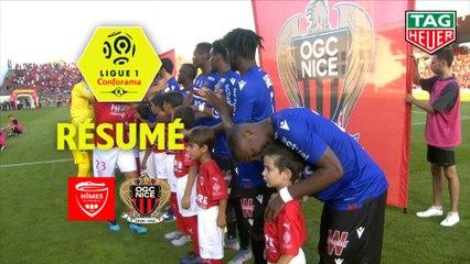 Nîmes Olympique - OGC Nice (1-2)  - Résumé - (NIMES-OGCN) / 2019-20