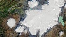 Islande : les funérailles d'un glacier victime du réchauffement climatique