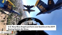 Stunning Cockpit Video Shows Blue Angels Performing Over Seattle
