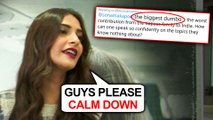 Sonam Kapoor ANGRY On HATERS For Insulting Her On Article 370 Jammu And Kashmir