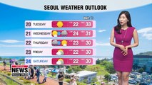 Heat alerts reissued in Seoul, sporadic rain in some parts 081919
