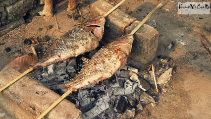 Fishing and Grilling Fish Vietnamese Style - Vietnam Unique Food