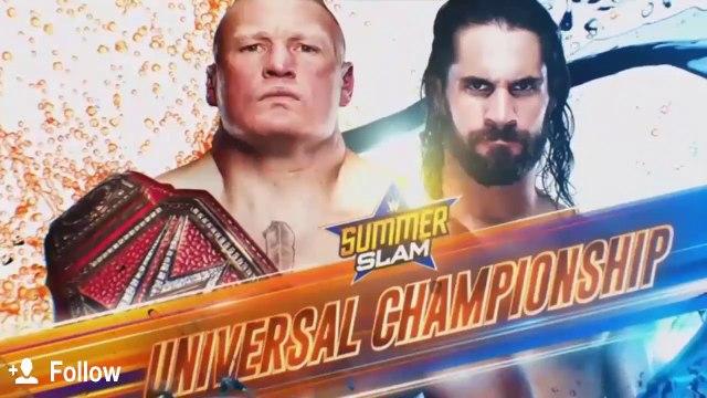 Brock Lesnar vs Seth Rollins Summerslam 2019 Highlights
