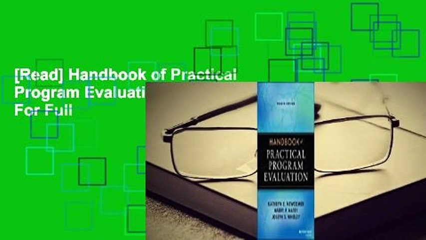 [Read] Handbook of Practical Program Evaluation  For Full