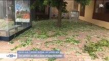 Découvrez les images impressionnantes des orages et de la grêle qui ont fait de nombreux dégâts ces dernières heures dans l'est de la France