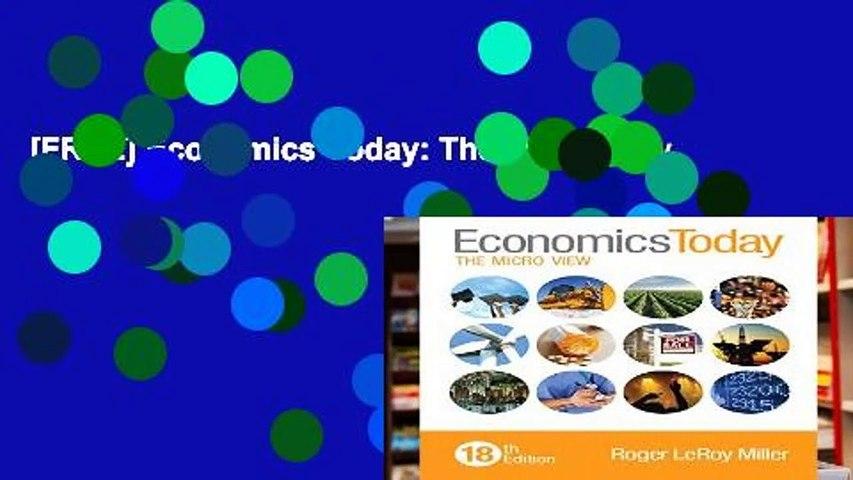 [FREE] Economics Today: The Micro View