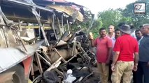 More Than 15 Lives Were Claimed As Bus Collides With Container Truck In Maharashtra