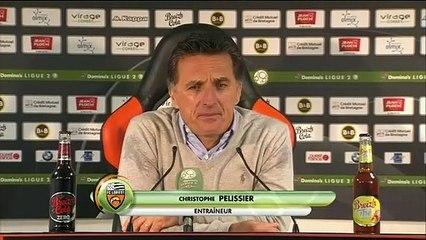La réaction de Christophe Pelissier après Lorient - Sochaux (1-0) 19-20